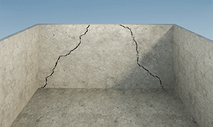 Inward Wall Cracks