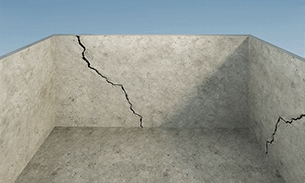 Vertical Wider at Top Cracks