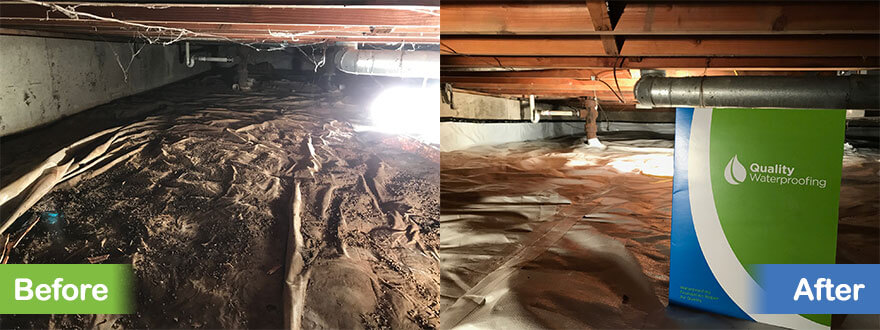 Before and After Crawl Space Encapsulation